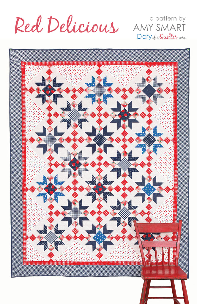 Red delicious star quilt pattern pdf version amy for Red door design quilts
