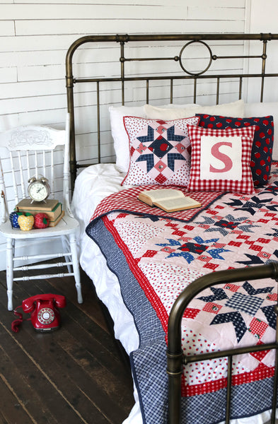 Red Delicious - Star Quilt Pattern - HARD COPY