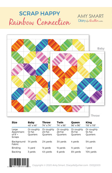 Scrap Happy Rainbow Connection - Quilt Pattern - HARD COPY Version - PREORDER