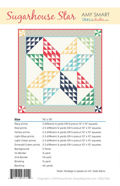 Sugarhouse Star Quilt Pattern HARD COPY