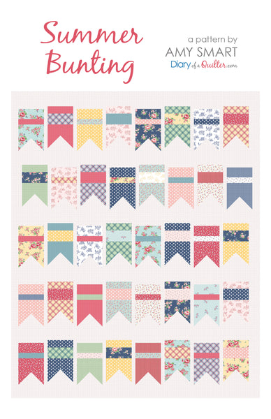 Summer Bunting quilt pattern - HARD COPY