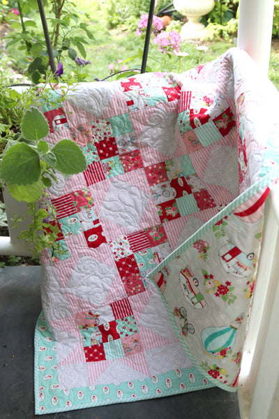 Scrappy Nines Baby Quilt PDF printable