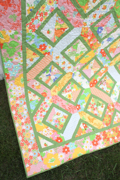 Double Crossed Quilt PAPER PATTERN