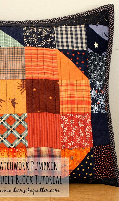 Patchwork Pumpkin Block & Table Runner