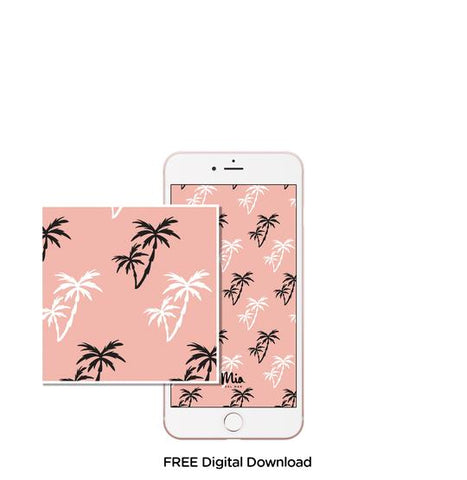 Mobile background - Palms pink