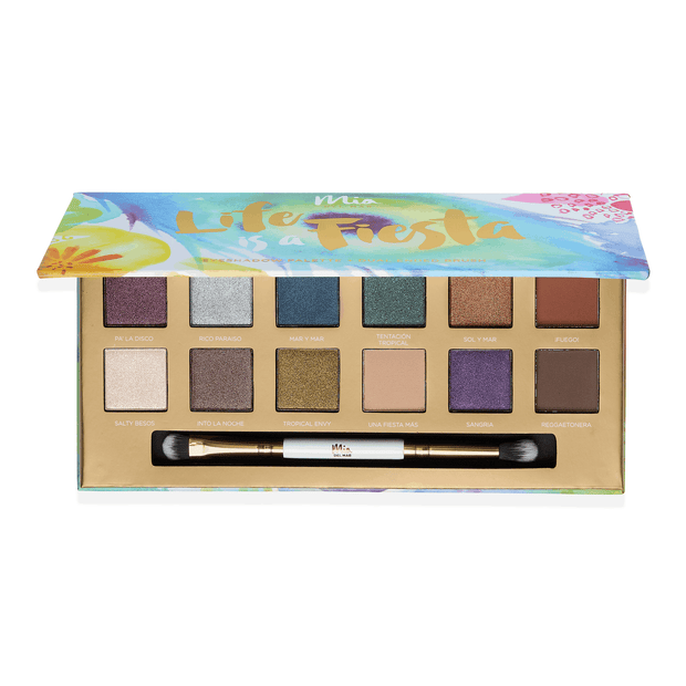Life is a Fiesta Eyeshadow Palette + Dual Ended Brush