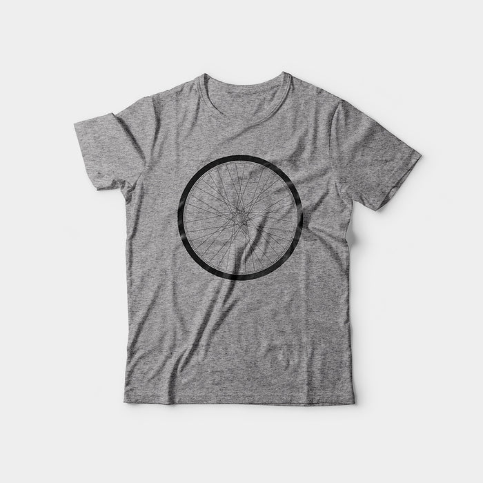 Wheel Tee, Heather Gray