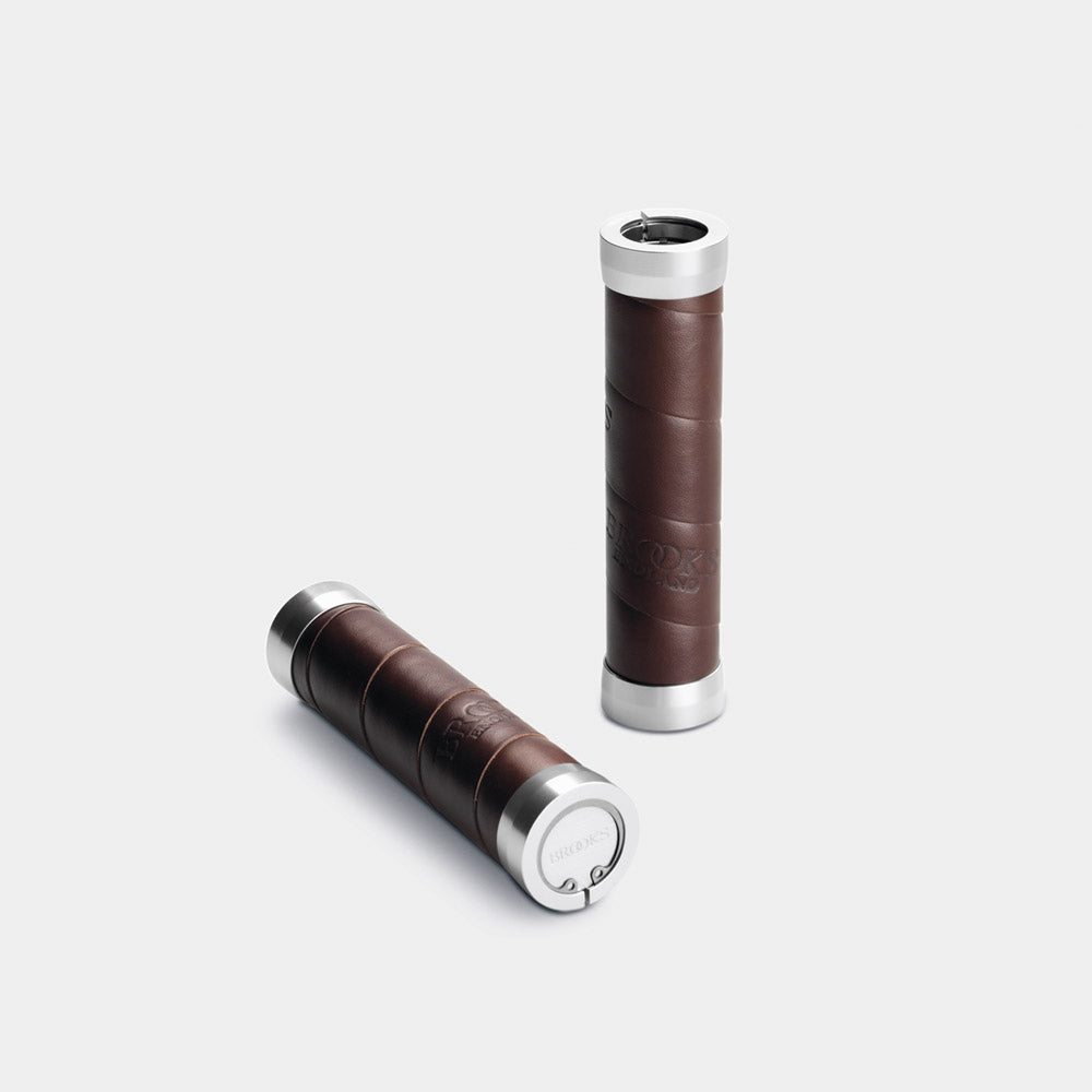 Slender Leather Grips, Antique Brown
