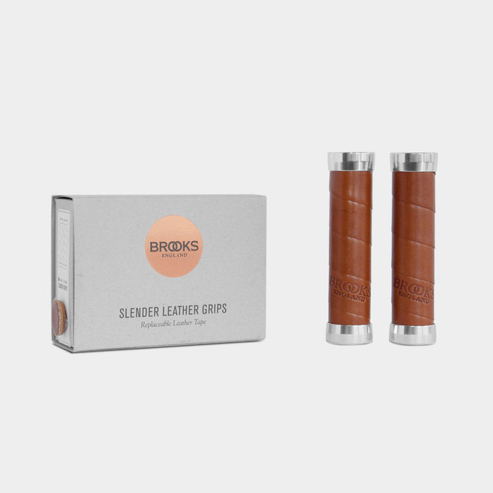 Slender Leather Grips, Honey