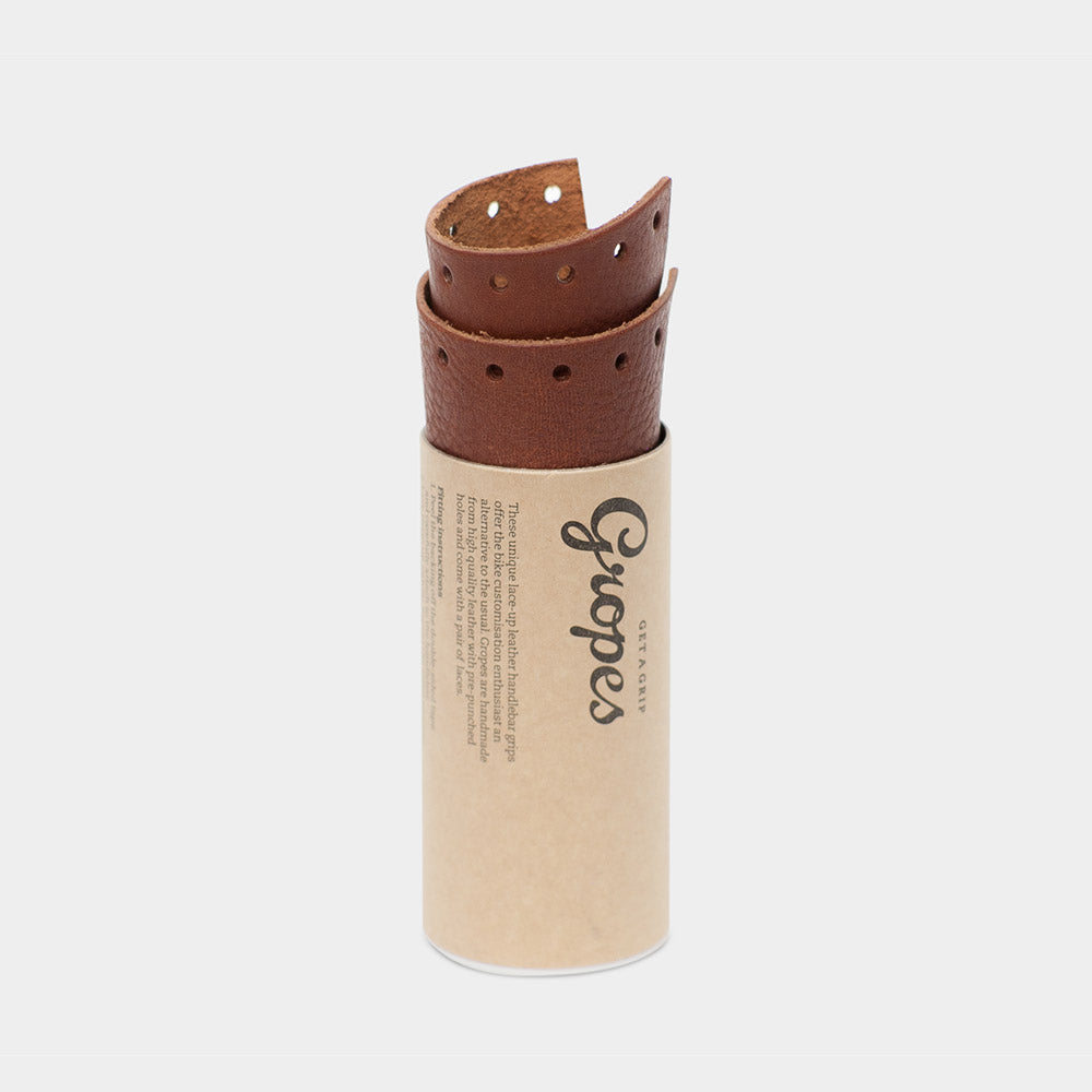 tokyobike - Short Leather Grips, Brown - Nonusual