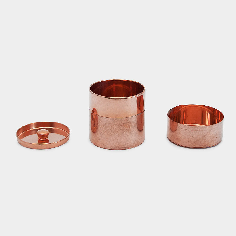 Round Canister, Copper