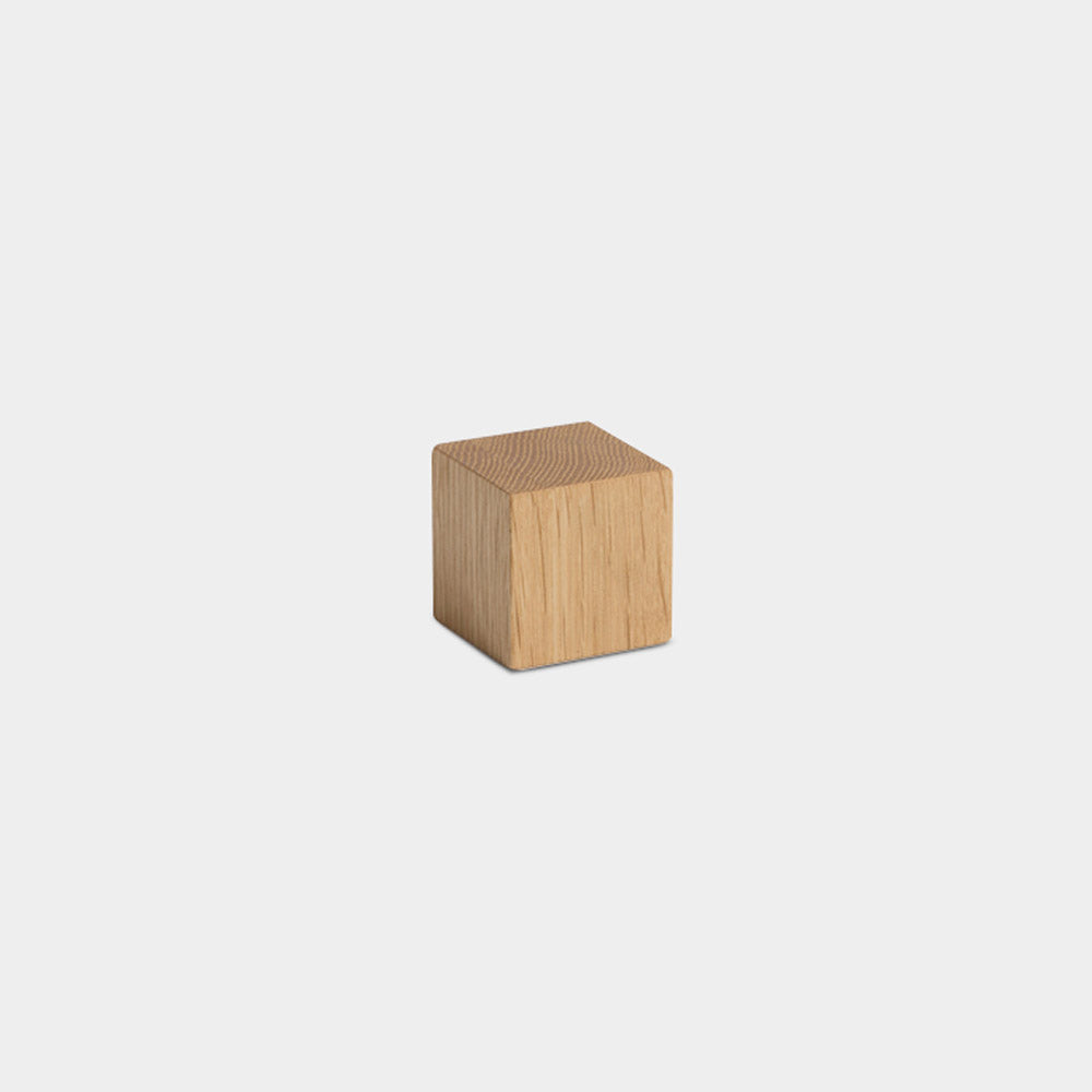 Cube Paperweight, Oak
