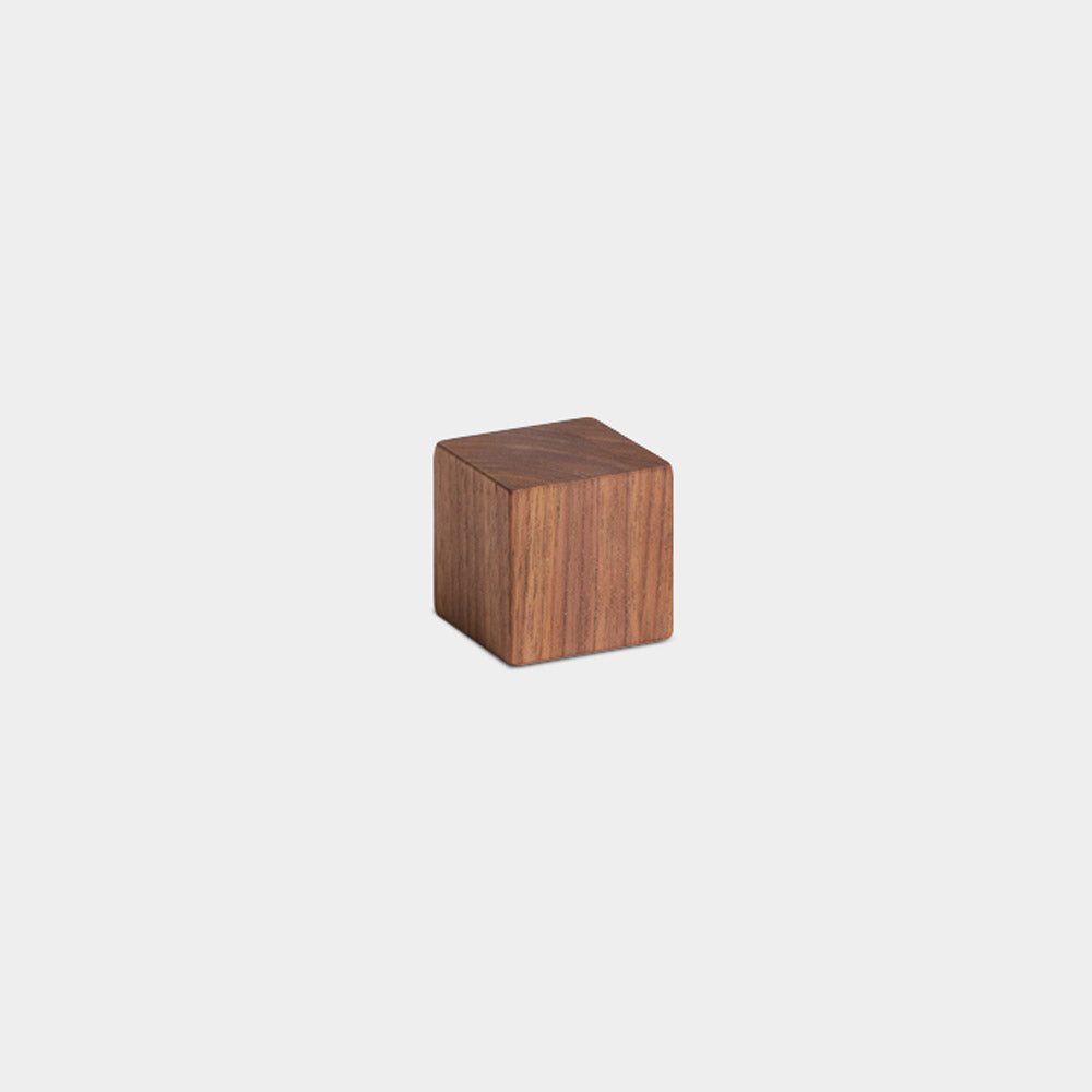 Cube Paperweight, Walnut