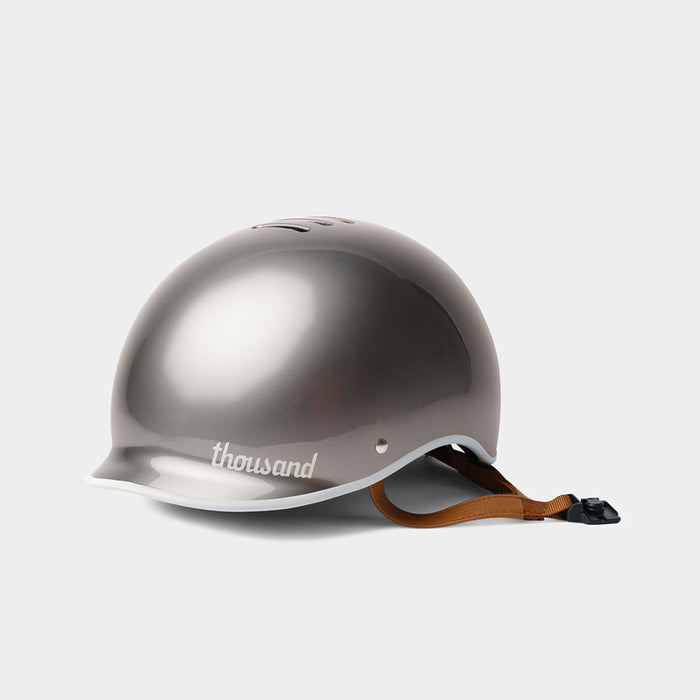 tokyobike - Heritage Bike Helmet, Polished Titanium - thousand