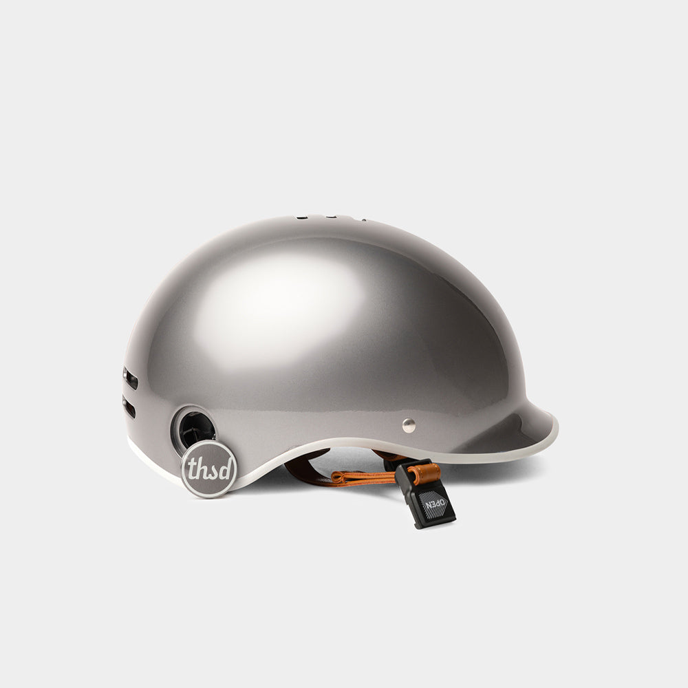Heritage Bike Helmet, Polished Titanium