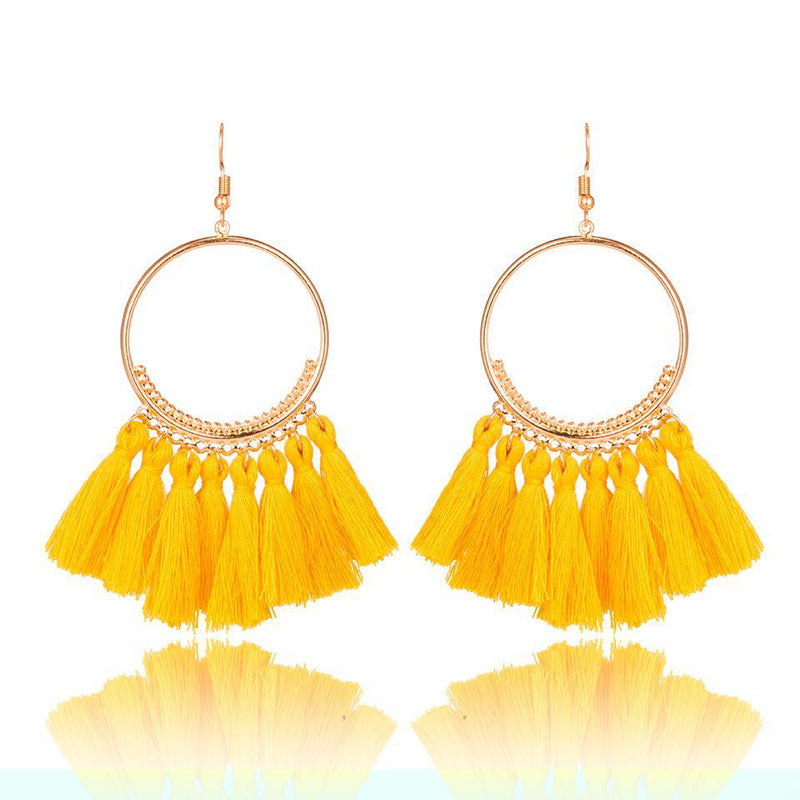 2018 Bohemian Ethnic Fringed Tassel Earrings,artistic bae review, artisticbae reviews, artistic bae reviews, artsy clothing  - Artistic Bae