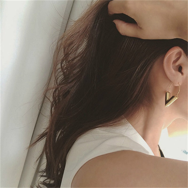 """V"" Earrings,artistic bae review, artisticbae reviews, artistic bae reviews, artsy clothing  - Artistic Bae"