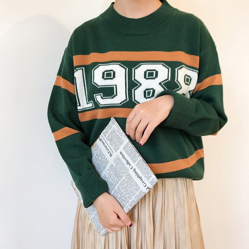 """1988"" Pullover Sweater,artistic bae review, artisticbae reviews, artistic bae reviews, artsy clothing  - Artistic Bae"