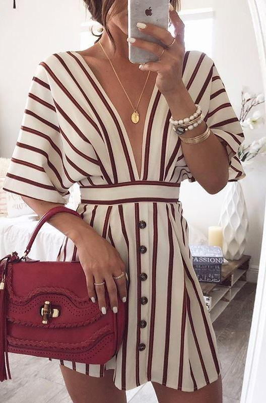 Retro Striped Button Dress,artistic bae review, artisticbae reviews, artistic bae reviews, artsy clothing  - Artistic Bae