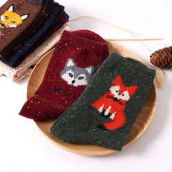 Cute Winter Cartoon Animals Socks - 3-Pairs Set,artistic bae review, artisticbae reviews, artistic bae reviews, artsy clothing  - Artistic Bae