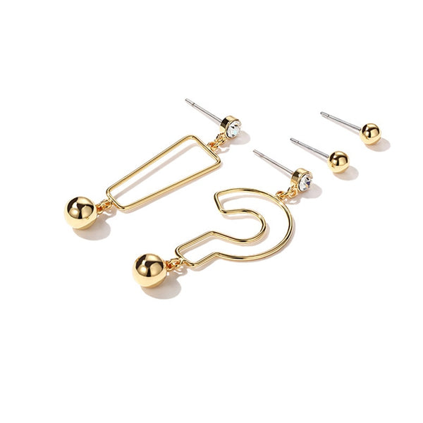 """!?"" Asymmetrical Symbol Earrings,artistic bae review, artisticbae reviews, artistic bae reviews, artsy clothing  - Artistic Bae"