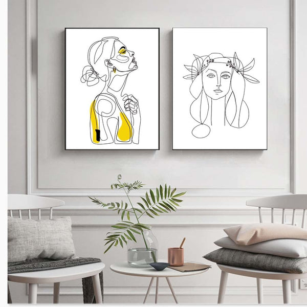 Abstract Line Minimalist Canvas,artistic bae review, artisticbae reviews, artistic bae reviews, artsy clothing  - Artistic Bae