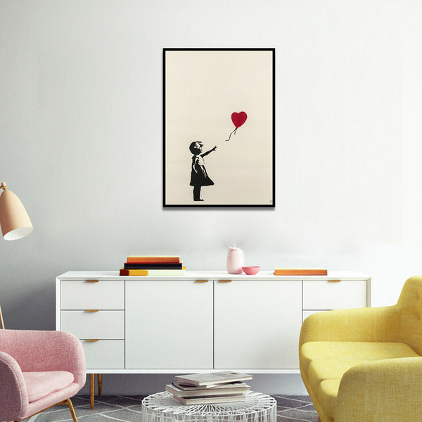 Banksy Balloon Girl Decor,artistic bae review, artisticbae reviews, artistic bae reviews, artsy clothing  - Artistic Bae