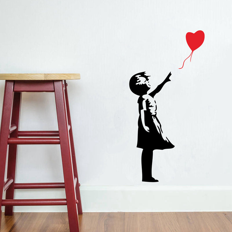 Banksy Balloon Girl Wall Sticker,artistic bae review, artisticbae reviews, artistic bae reviews, artsy clothing  - Artistic Bae