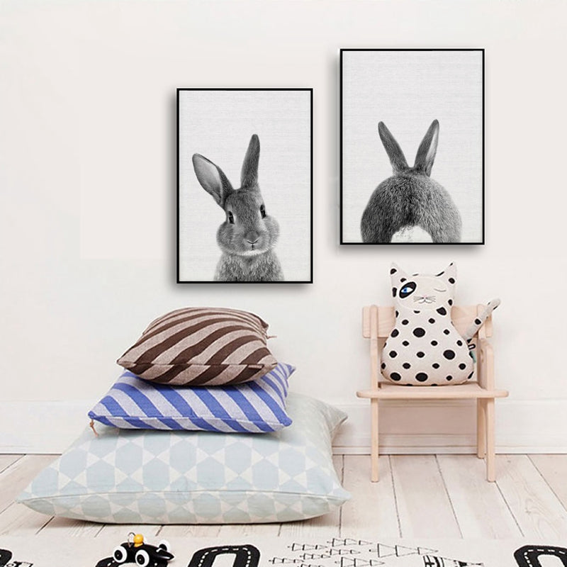 Cute Rabbit Tail Canvas Art,artistic bae review, artisticbae reviews, artistic bae reviews, artsy clothing  - Artistic Bae