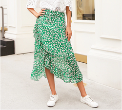 Ruffle Leaf  Wrap Skirt,artistic bae review, artisticbae reviews, artistic bae reviews, artsy clothing  - Artistic Bae