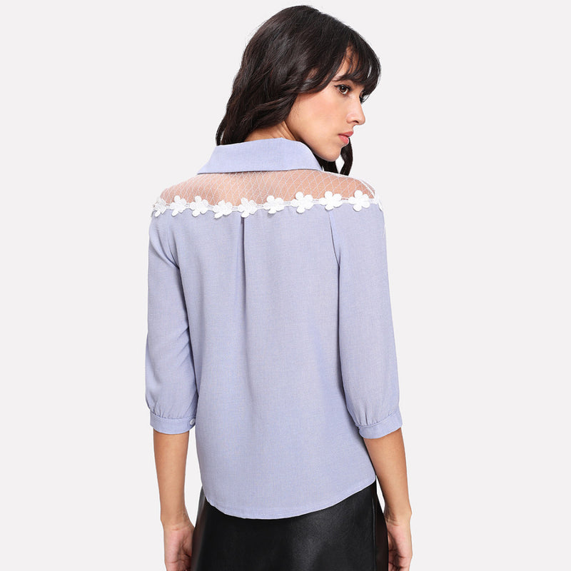 Artsy Floral Lace 3/4 Sleeve Blouse,artistic bae review, artisticbae reviews, artistic bae reviews, artsy clothing  - Artistic Bae