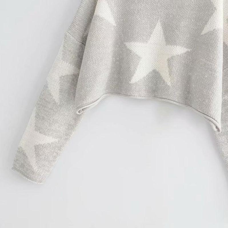 Stars Knitting Short Sweater,artistic bae review, artisticbae reviews, artistic bae reviews, artsy clothing  - Artistic Bae