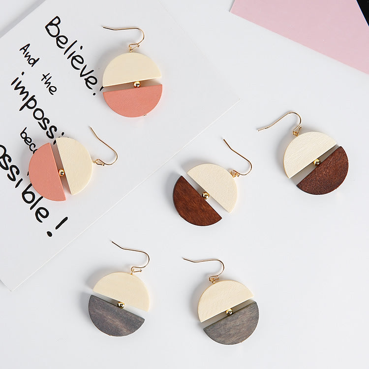 """Contrast"" Wood Dangle Earrings,artistic bae review, artisticbae reviews, artistic bae reviews, artsy clothing  - Artistic Bae"