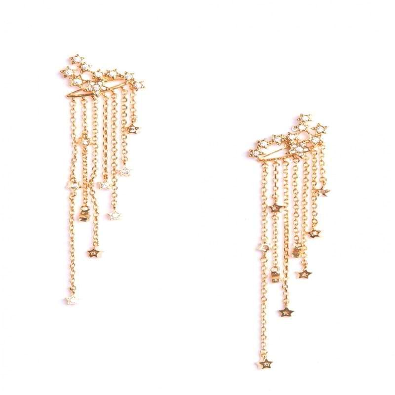 Star Tassel Crystal Earrings,artistic bae review, artisticbae reviews, artistic bae reviews, artsy clothing  - Artistic Bae