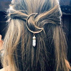 Vintage MoonStone Hair Chip,artistic bae review, artisticbae reviews, artistic bae reviews, artsy clothing  - Artistic Bae