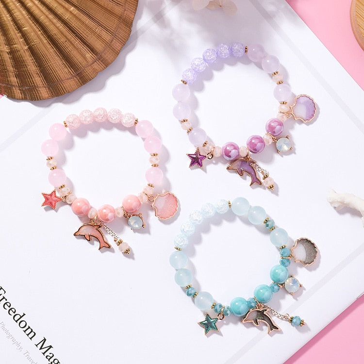 Sweet Dolphin Star Pendant Bracelet,artistic bae review, artisticbae reviews, artistic bae reviews, artsy clothing  - Artistic Bae