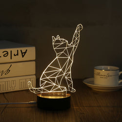 LED 3D Cat Table Lamp,artistic bae review, artisticbae reviews, artistic bae reviews, artsy clothing  - Artistic Bae