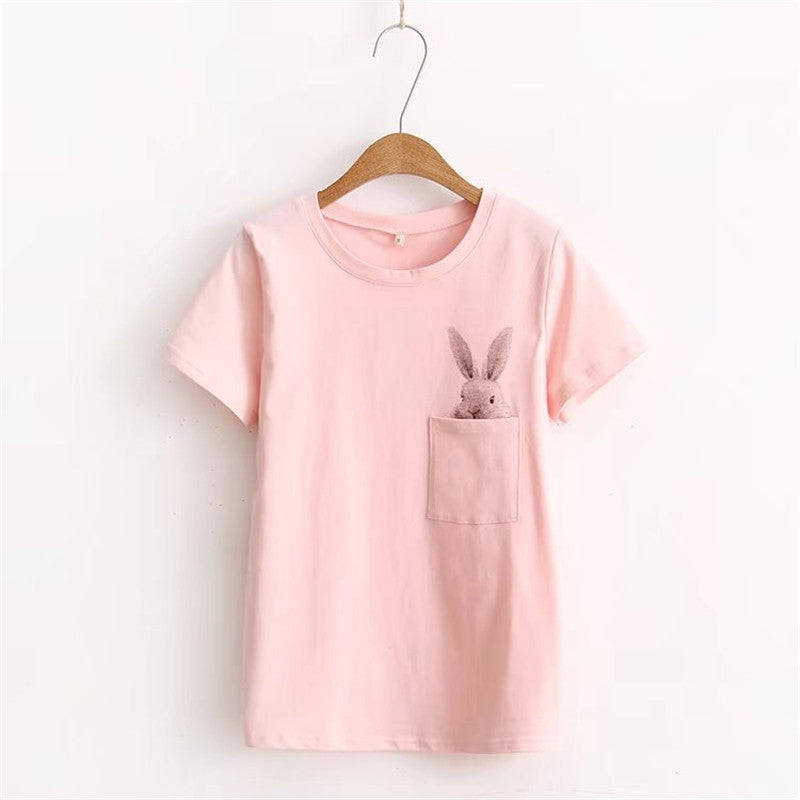 Pocket Rabbit T-Shirt,artistic bae review, artisticbae reviews, artistic bae reviews, artsy clothing  - Artistic Bae