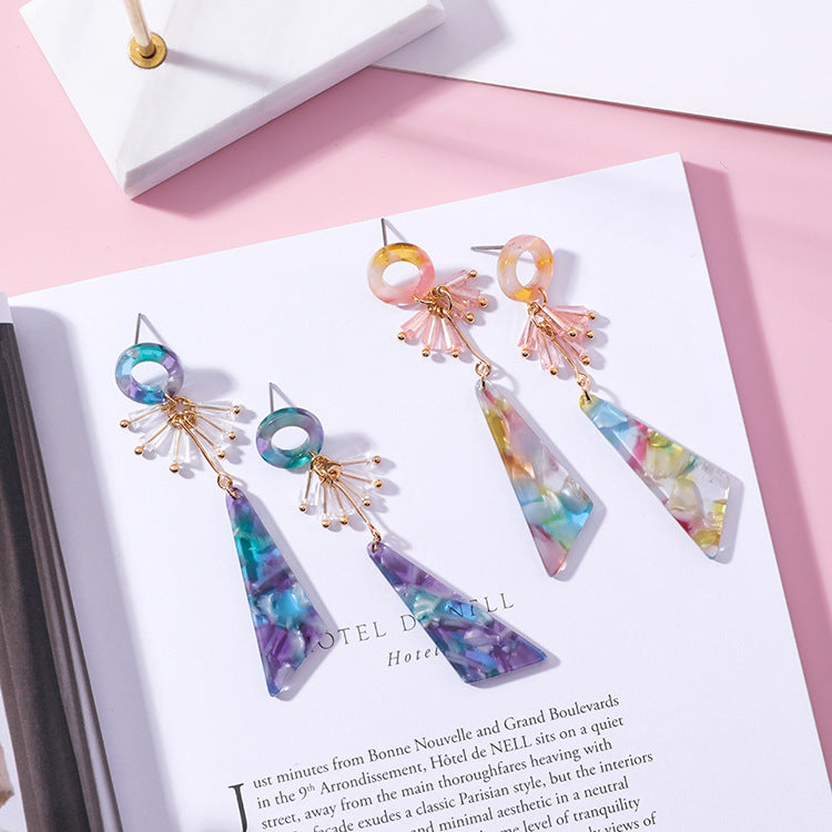 Acrylic Triangle Drop Earrings,artistic bae review, artisticbae reviews, artistic bae reviews, artsy clothing  - Artistic Bae