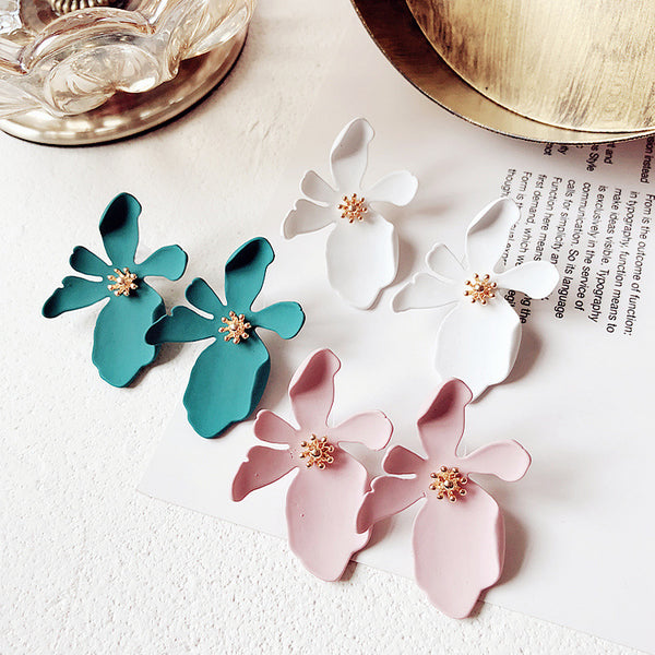 Big Flower Stud Earrings,artistic bae review, artisticbae reviews, artistic bae reviews, artsy clothing  - Artistic Bae