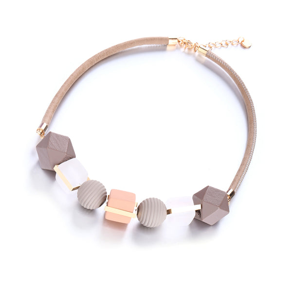 Geometric Statement Wood Necklace,artistic bae review, artisticbae reviews, artistic bae reviews, artsy clothing  - Artistic Bae