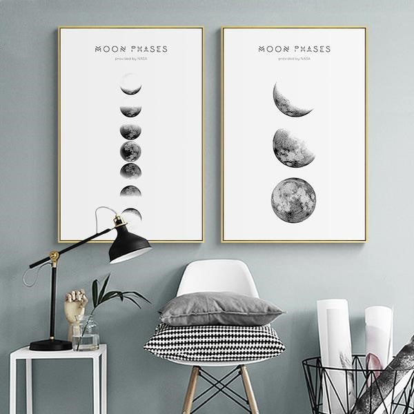 Gradient Moon Phases Canvas Art,artistic bae review, artisticbae reviews, artistic bae reviews, artsy clothing  - Artistic Bae