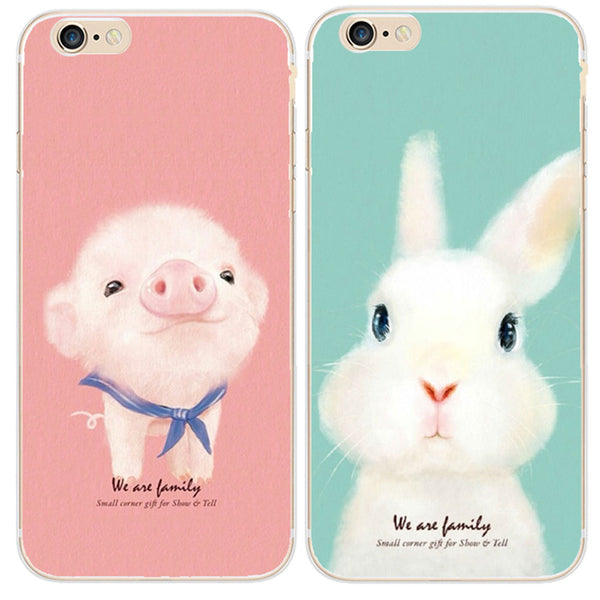 Cute Rabbit Pig iPhone Cases,artistic bae review, artisticbae reviews, artistic bae reviews, artsy clothing  - Artistic Bae