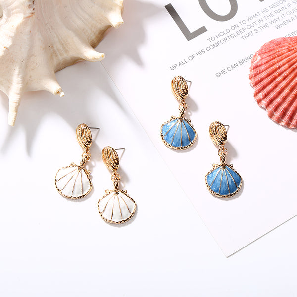 Seashell Dangle Earrings,artistic bae review, artisticbae reviews, artistic bae reviews, artsy clothing  - Artistic Bae