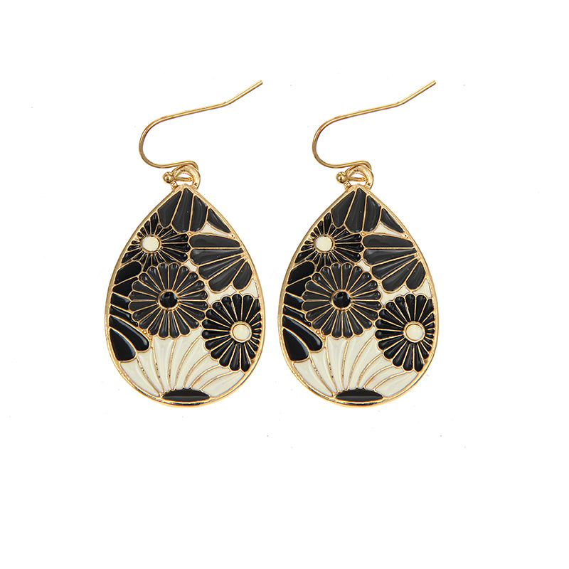 Beautiful Flowers Oval Drop Earrings,artistic bae review, artisticbae reviews, artistic bae reviews, artsy clothing  - Artistic Bae