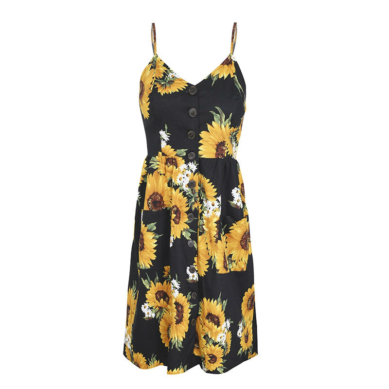 Sunflower Backless Casual Dress,artistic bae review, artisticbae reviews, artistic bae reviews, artsy clothing  - Artistic Bae