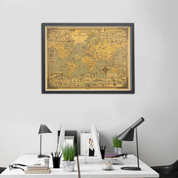 Vintage World Wonders Map,artistic bae review, artisticbae reviews, artistic bae reviews, artsy clothing  - Artistic Bae