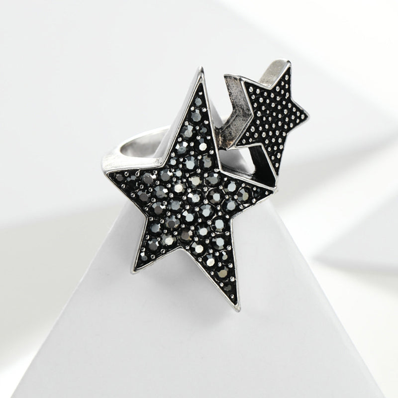 Twin Star Ring,artistic bae review, artisticbae reviews, artistic bae reviews, artsy clothing  - Artistic Bae