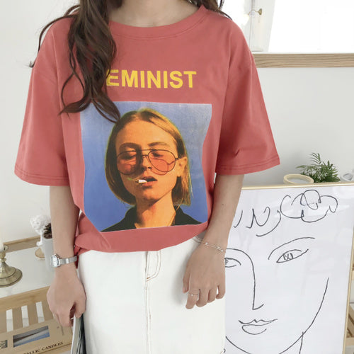 """Feminist"" Graphic T-Shirt,artistic bae review, artisticbae reviews, artistic bae reviews, artsy clothing  - Artistic Bae"