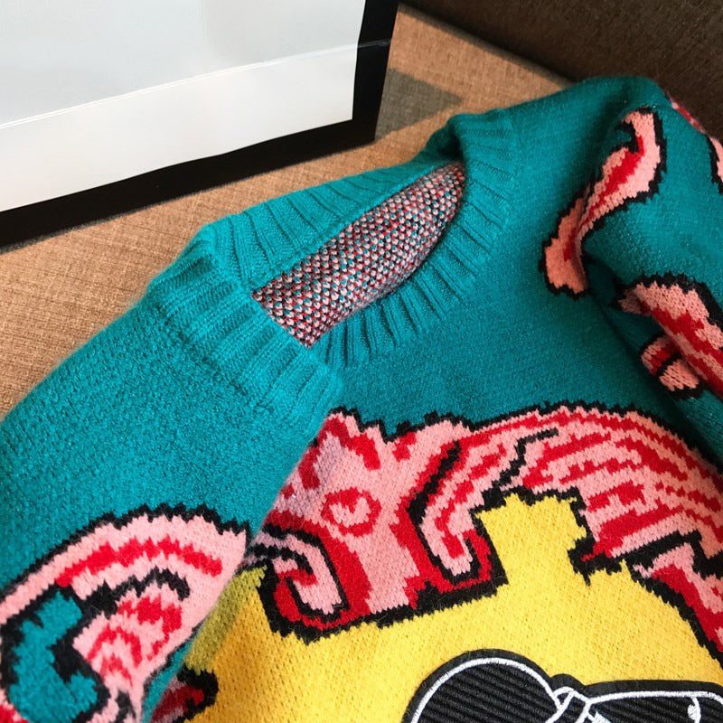 Retro UFO Knitted Sweater,artistic bae review, artisticbae reviews, artistic bae reviews, artsy clothing  - Artistic Bae